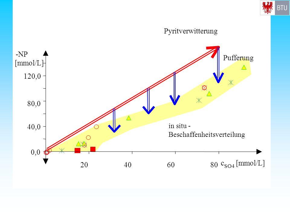 Pyritverwitterung 0,0 40,0 80,0 120,0 - NP [mmol/L] 20 40 60 80 c